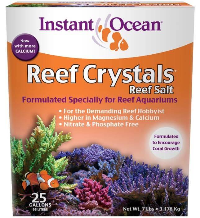 1) Instant Ocean Reef Crystals Reef Salt