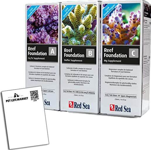 10) Red Sea 4-Piece Reef Colors Pro Supplement Bundle
