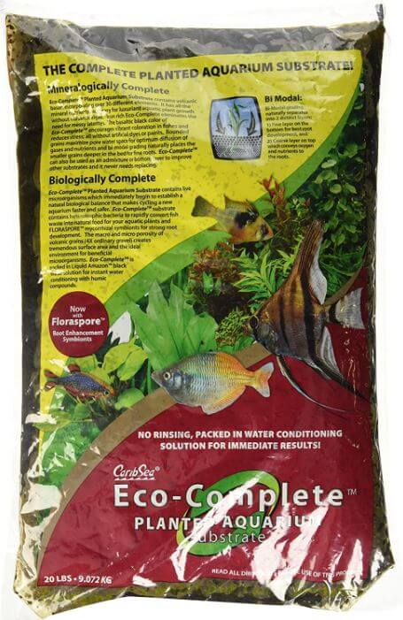 3) CaribSea Eco-Complete Planted Black Aquarium Substrate