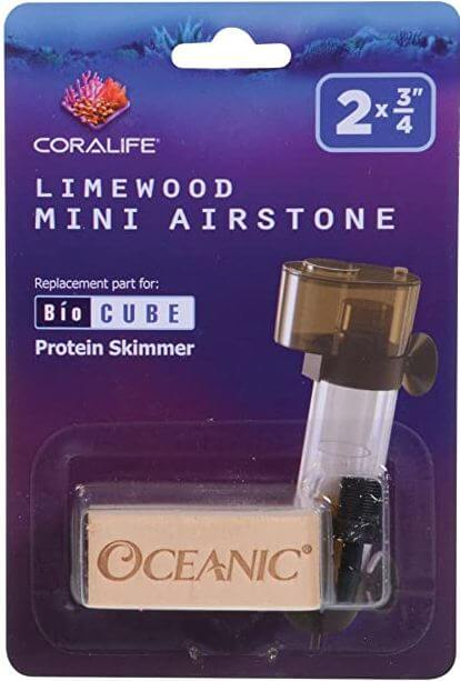 6) Coralife 8524 Linewood Mini Airstone For Biocube Protein Skimmer