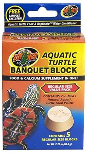 7) Zoo Med Block Turtle Food