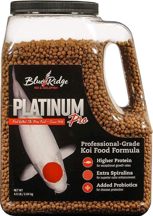 5) Blue Ridge Fish Food Pellets